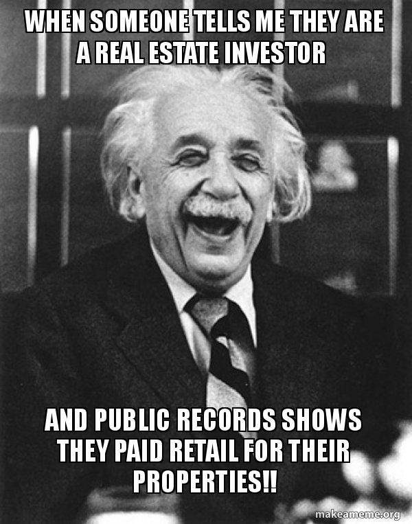 real estate investor meme