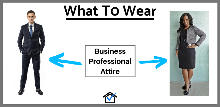 business professional attire real estate