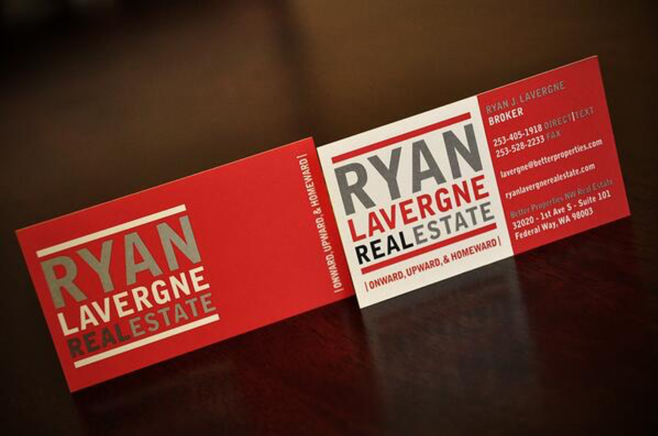 real estate agent business cards example
