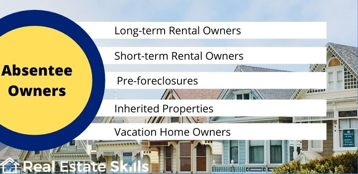 types of absentee owners real estate