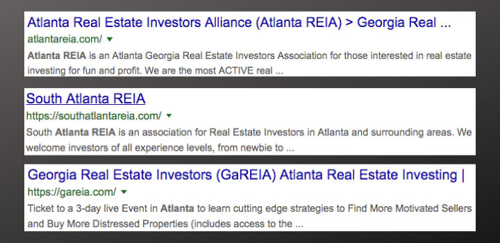 local atlanta reia meetings