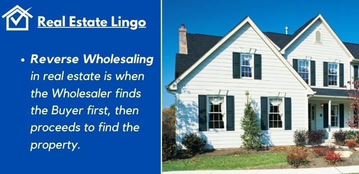reverse wholesaling real estate South Carolina