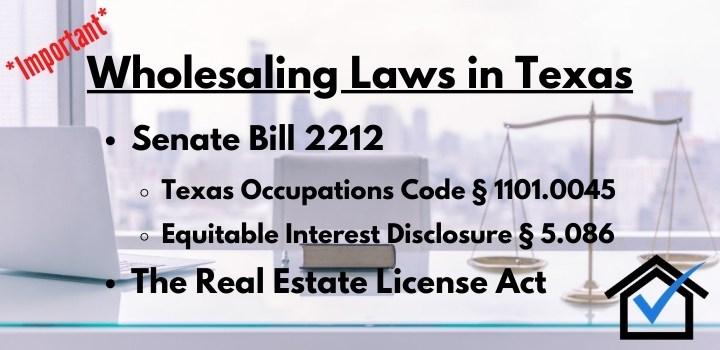 wholesaling laws texas