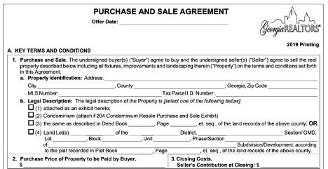 georgia wholesale contract