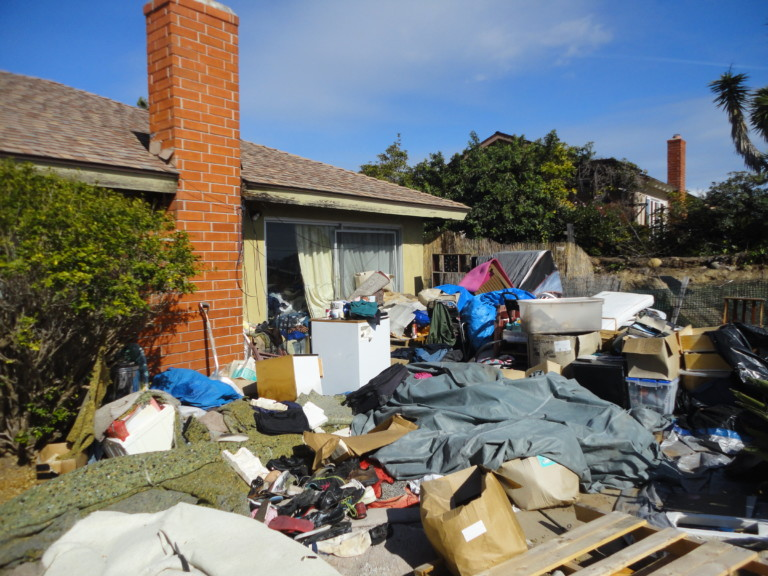 Hoarder House in San Diego