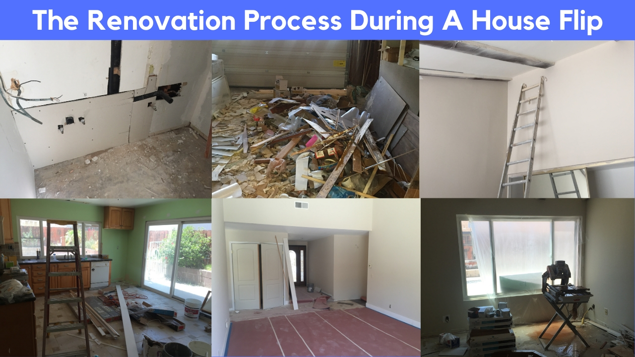 renovation process during a house flip