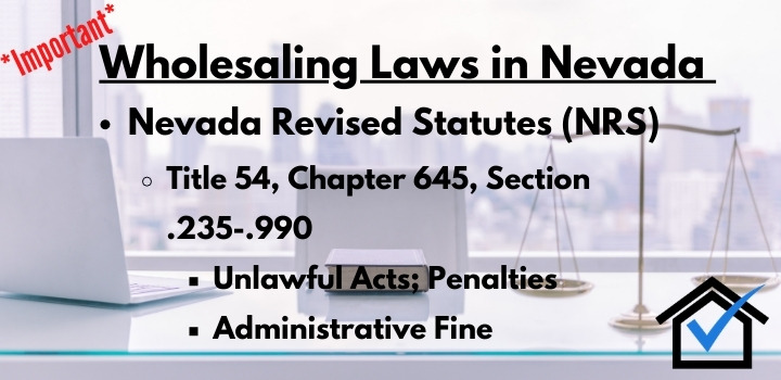 wholesaling laws Nevada