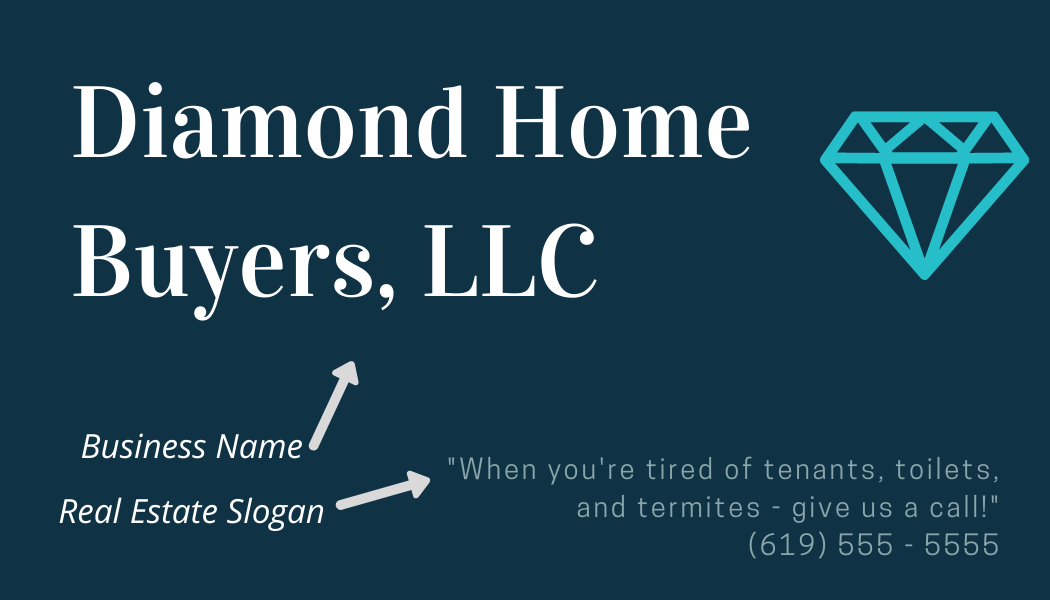 real estate slogans for business cards