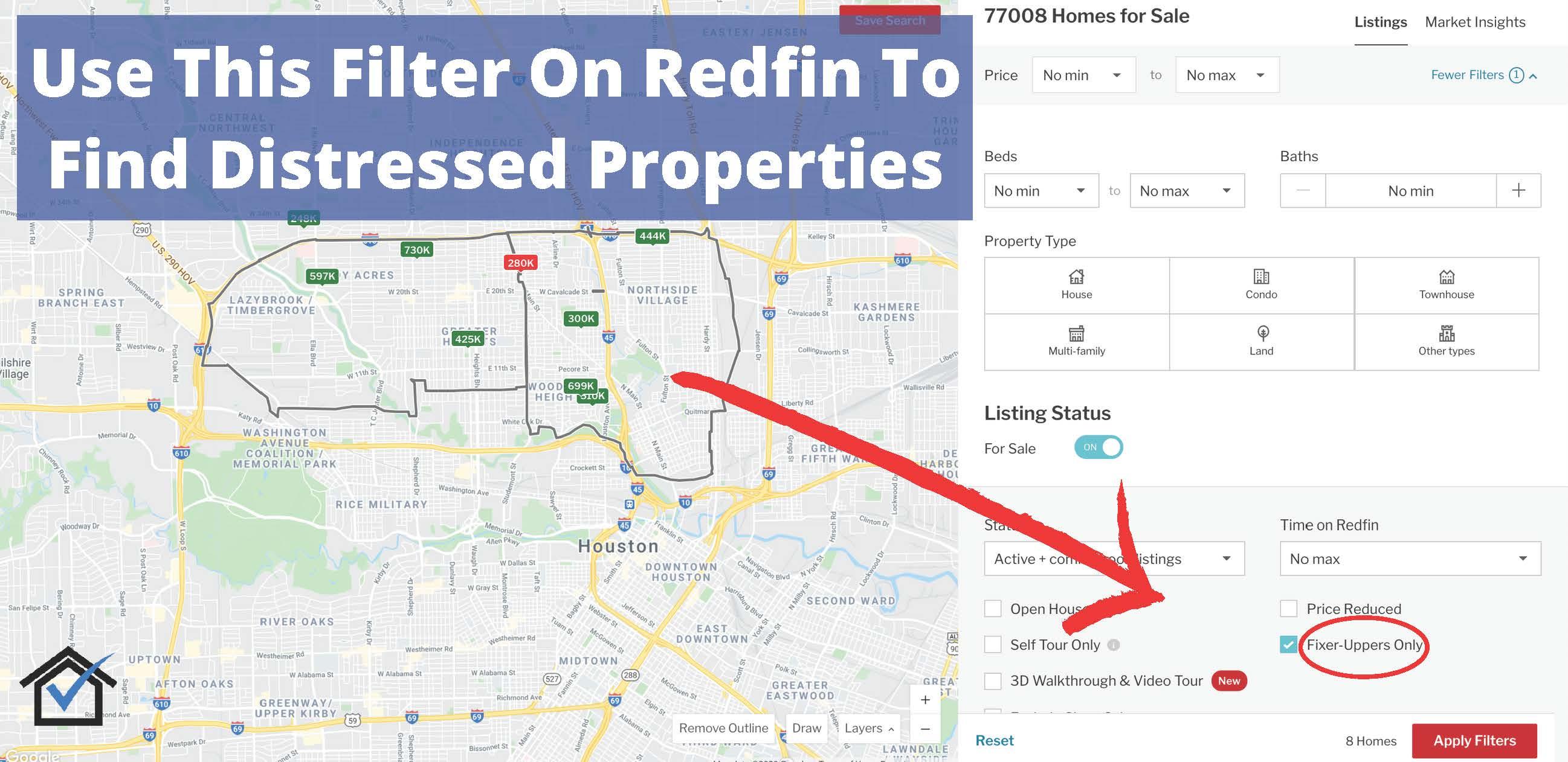 distressed properties sale