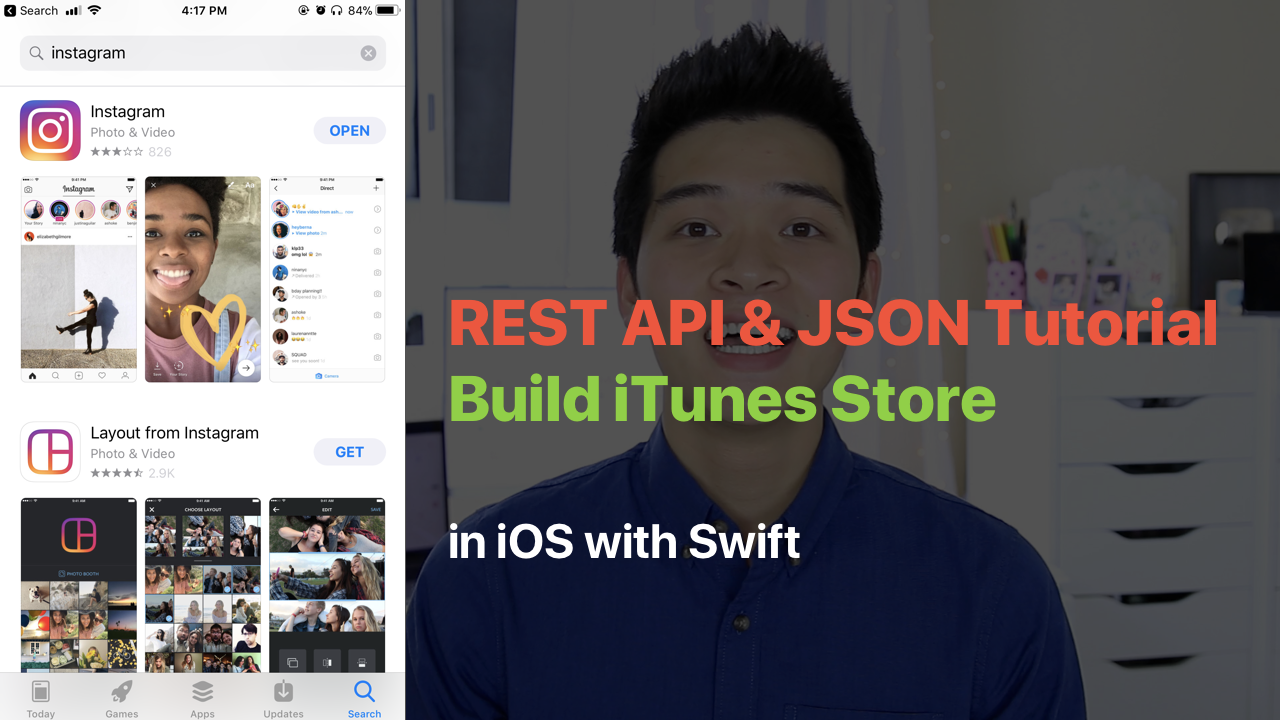 BUILD ITUNES STORE SEARCH WITH REST API AND JSON
