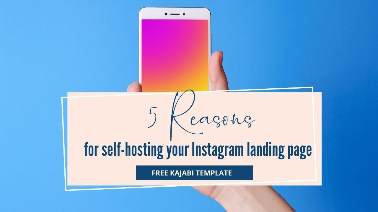 Free Kajabi template to be used on instagram