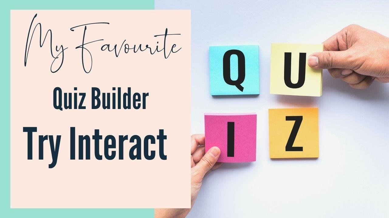 Review of try interact the quiz software