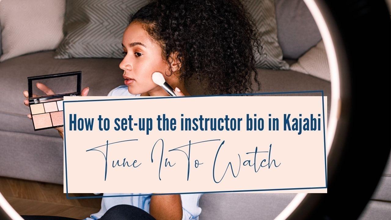 How to customize the bio in Kajabi product