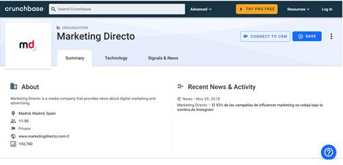 crunchbase website screenshot