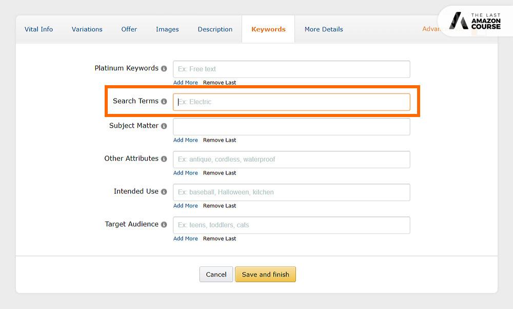Amazon Listing Backend Keywords