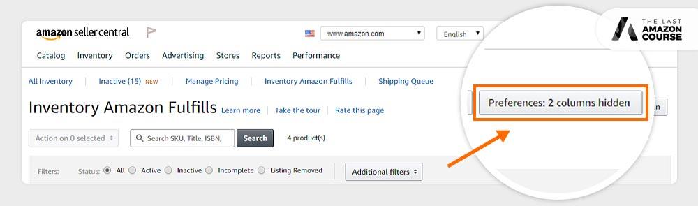 Amazon Buy Box Eligible Preferences Tab