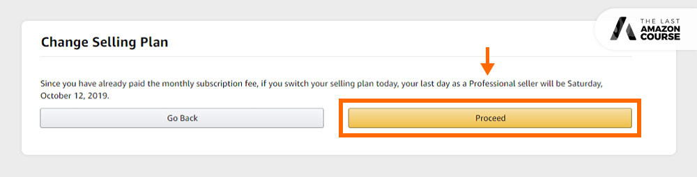 How to Change Amazon Selling Plans Proceed