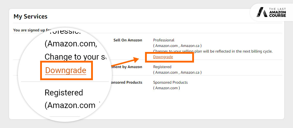How to Change Amazon Selling Plans Downgrade
