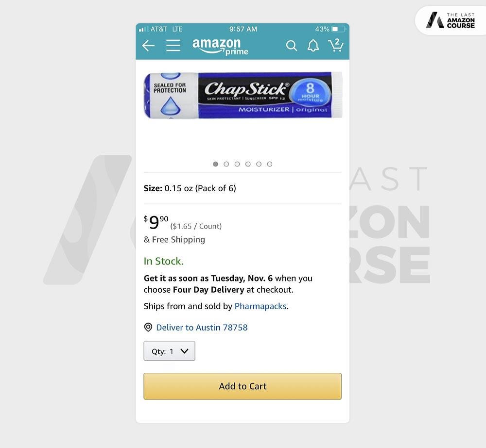 Amazon Mobile App Buy Box
