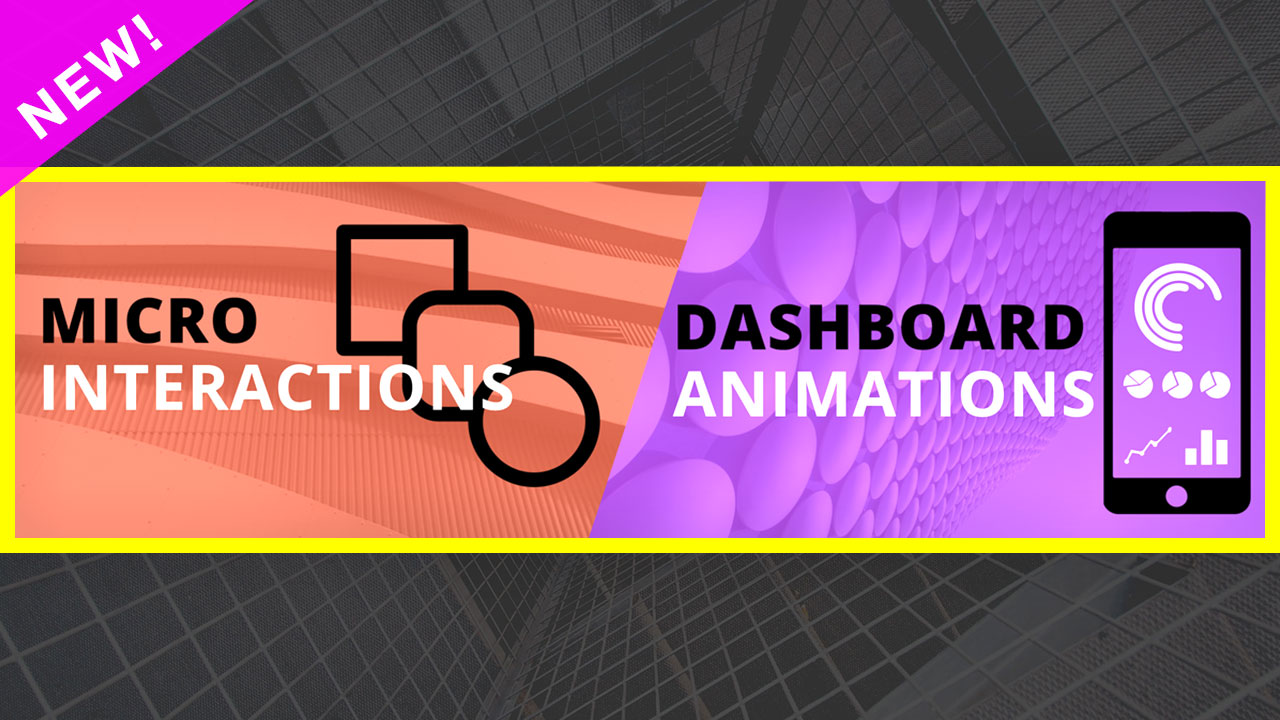 Micro-interactions & Dashboard Animations bundle