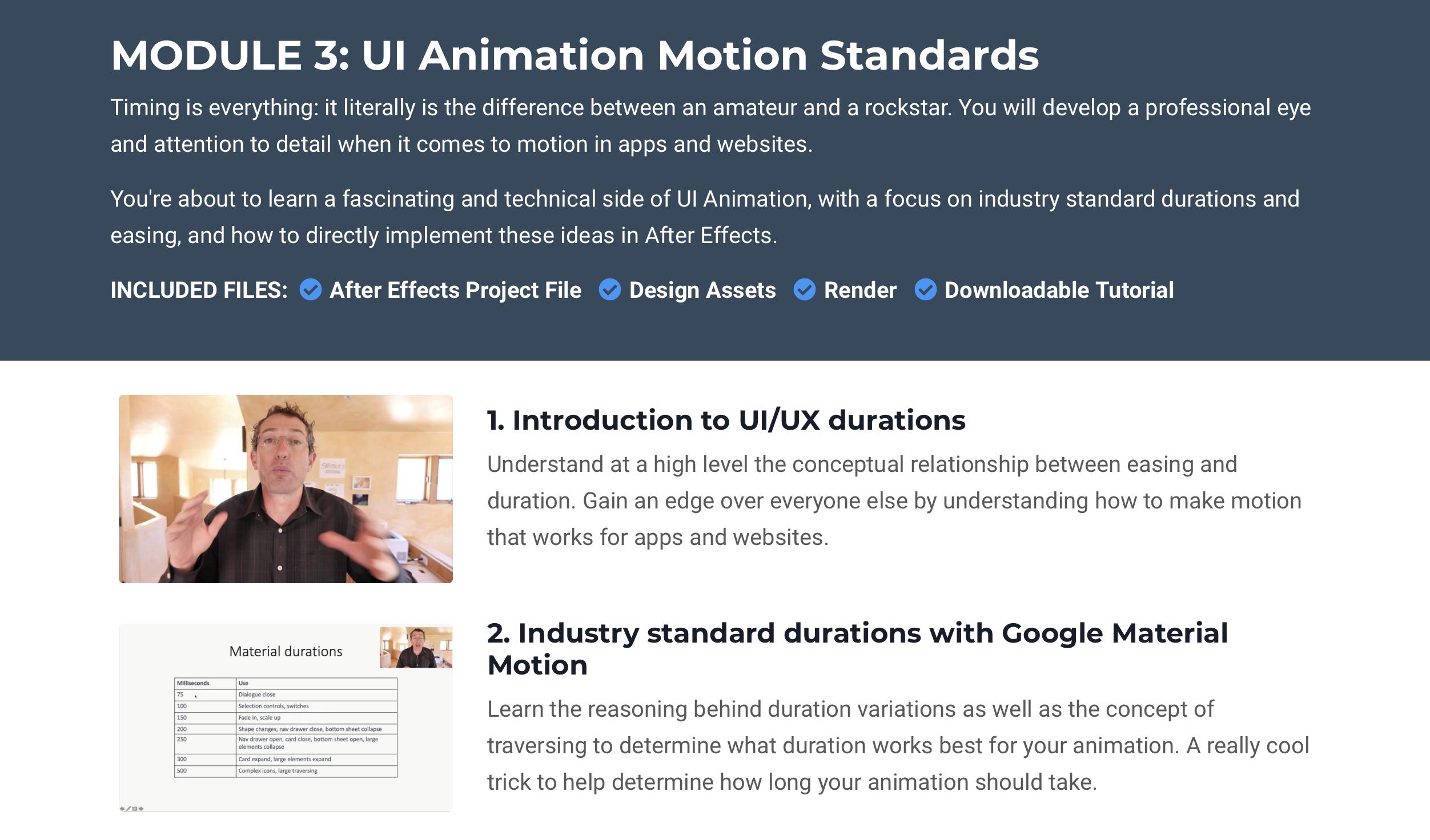 Motion Standards
