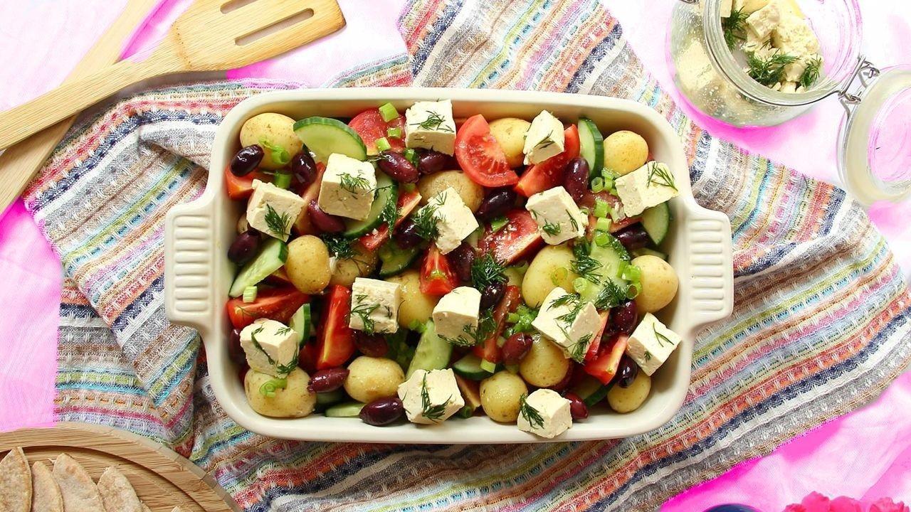 Картофельный салат с тофу