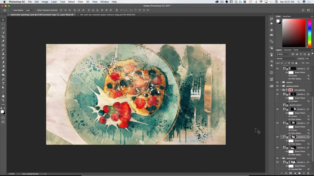 Watercolor Painting in Photoshop