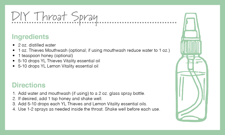 diy throat spray