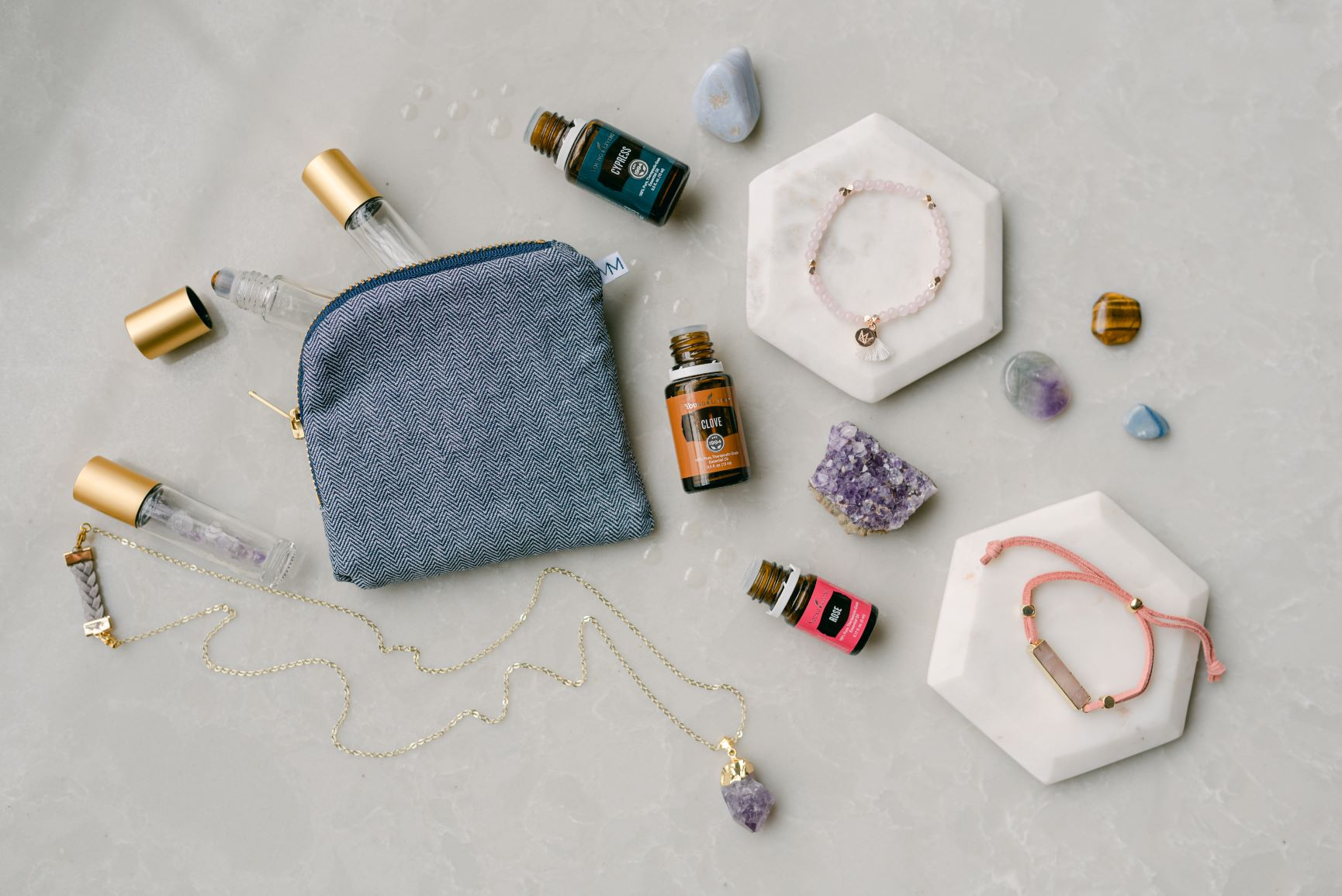 oils and crystals pairing