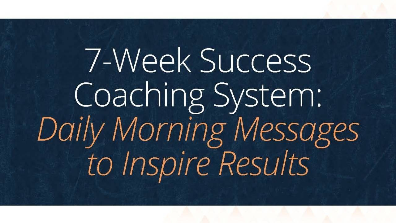 7-Week Success Coaching System