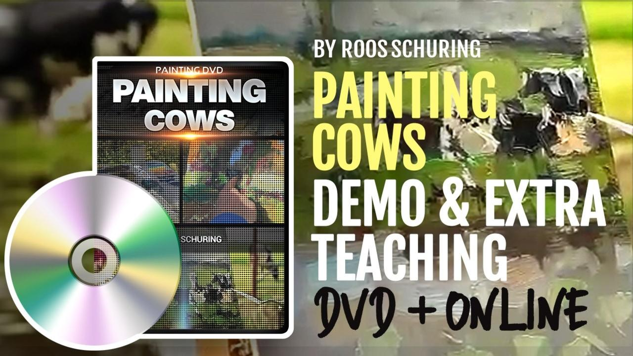 Lr17eccotkuno8vi3exa dvd and mini course painting cows