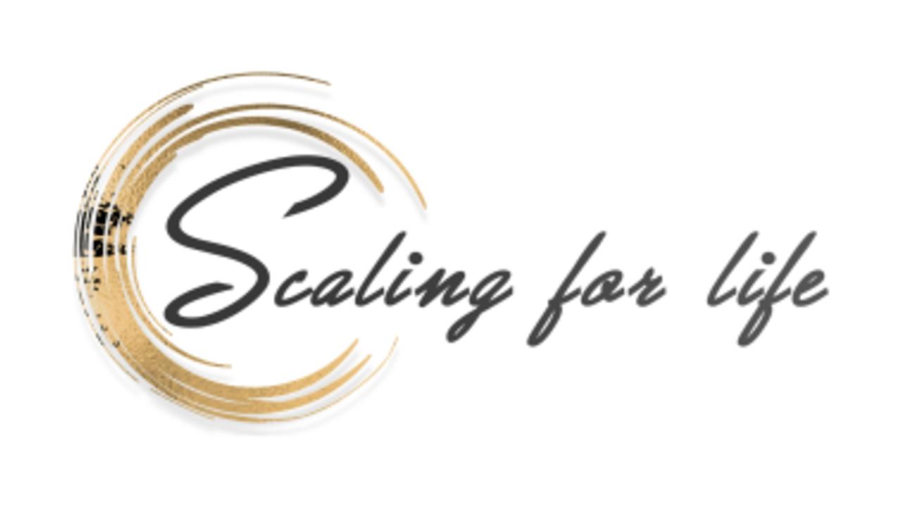 Qxogfydrtesuf2amdlaf scaling for life logo white background small
