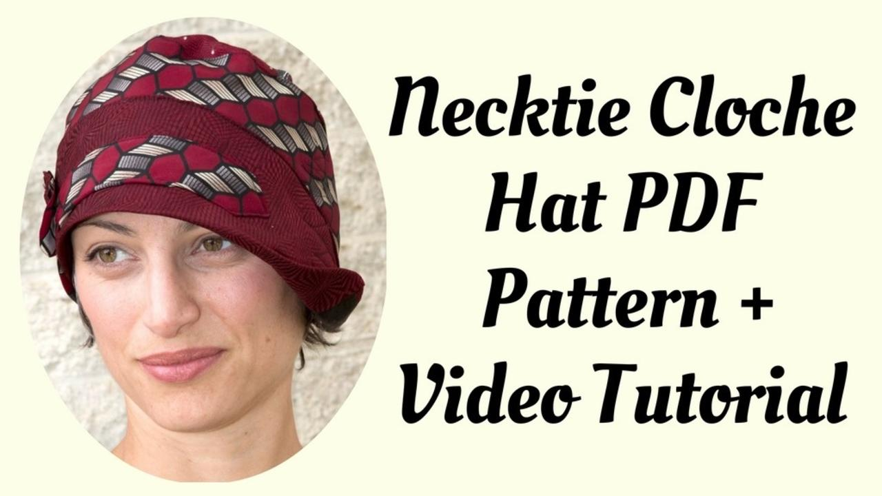 Necktie cloche hat pattern for women details baditri Images