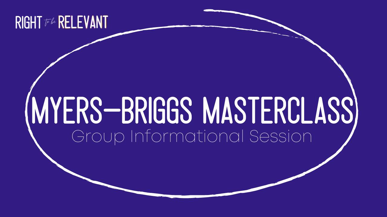 Ewti3jvbqhseuwa40skq myers briggs masterclass 1