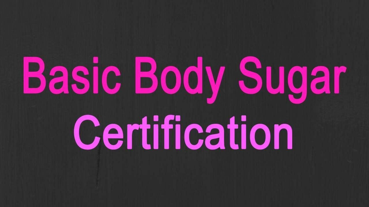 Body Sugar Certification