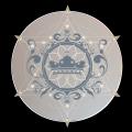 Gsldu8wgtakykwabqqgc sacred geo crown logo with color background