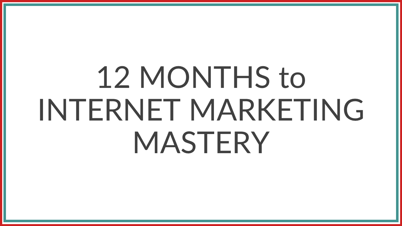 Fs1u4fzdr16y0reexogw 12 month to internet marketing mastery product image