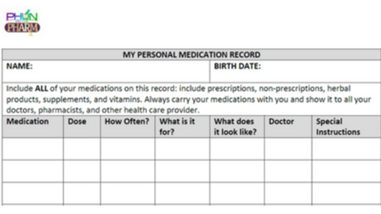 Medication therapy management services provides medication education personal medication record maxwellsz