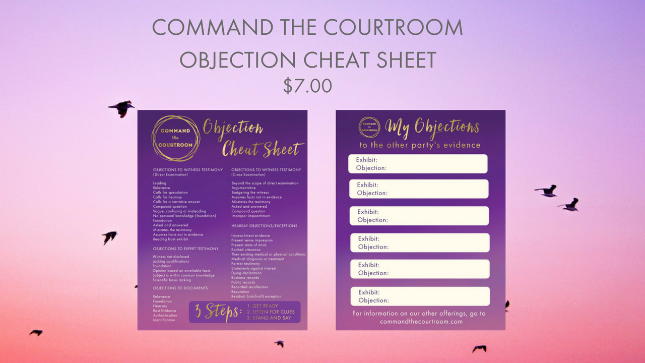 8t4xhftvqaidlxldmhvt command the courtroomobjection cheat sheet