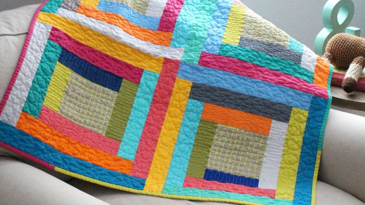 Modern log cabin baby quilt tutorial : log cabin baby quilt pattern - Adamdwight.com