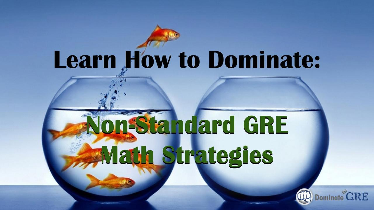 GRE Non-Standard Math Strategies - Video Course