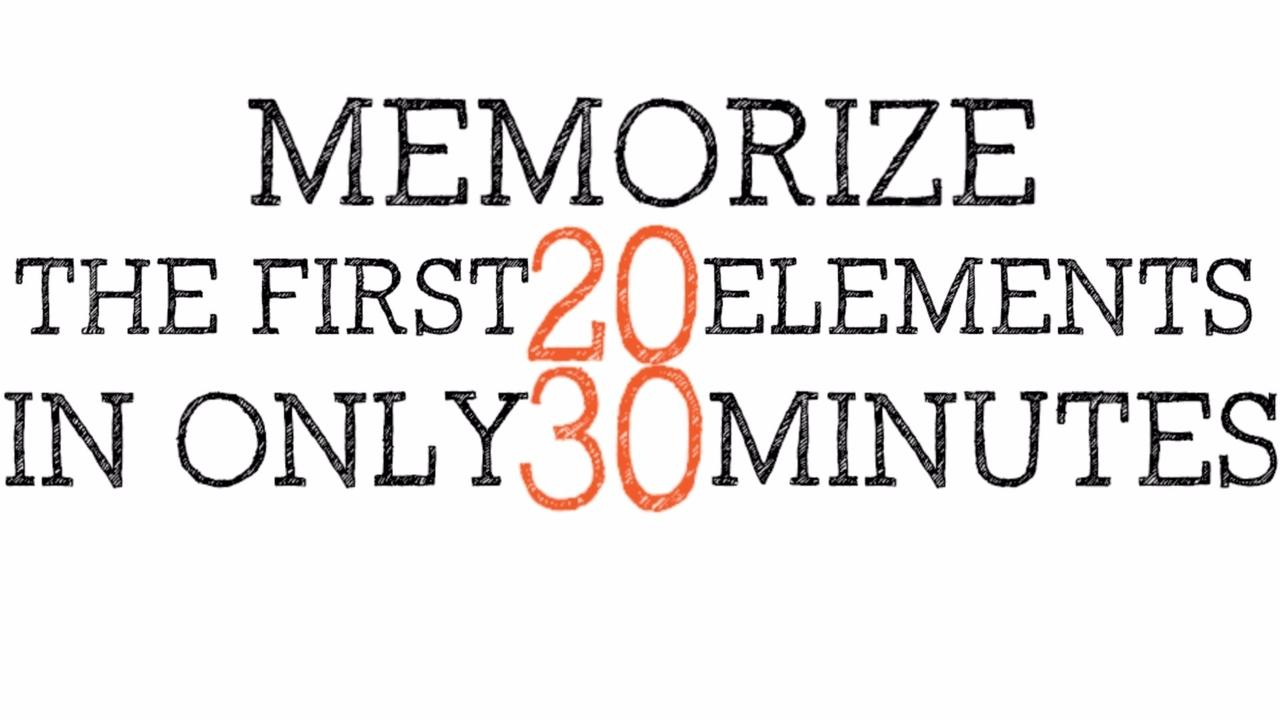 memorize the periodic table first 20 elements - Periodic Table Mnemonic For The First 20 Elements