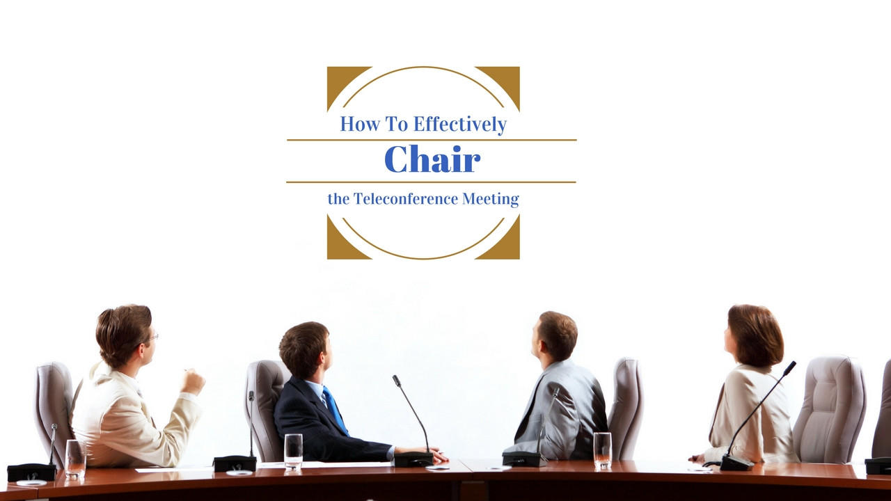 how to chair a meeting effectively Effective meetings need structure, order and ground rules without these elements they can go on forever and not accomplish a thing with a solid objective in mind, a tight agenda, and a commitment to involving the meeting participants in the planning, preparation, and execution of the meeting, you are well on your way to chairing great meetings.