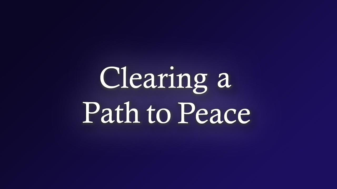 9qxmdyhxrjc9okq1laqa clearing a path to peace