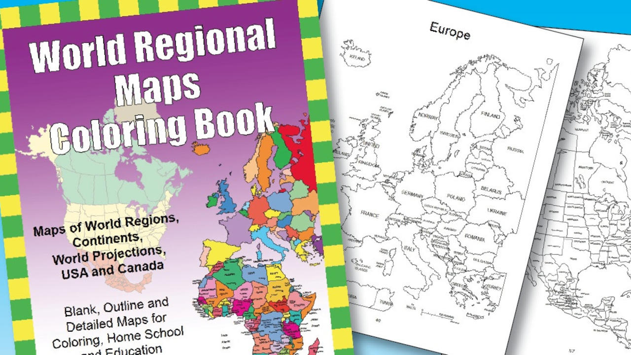 World regional maps pdf coloring book for classrooms education gumiabroncs Image collections