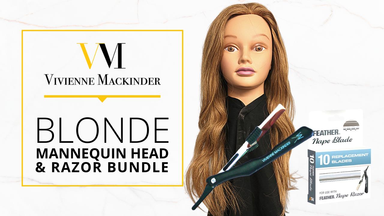 Wgfm96mtocvqhv71fksa vm blond mannequin head razor bundle