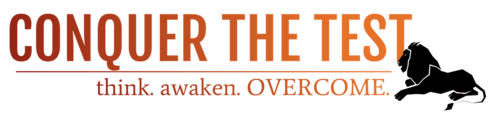 Pijcgsjutpyf9kavf0bt conquer the test logo red orange black lion
