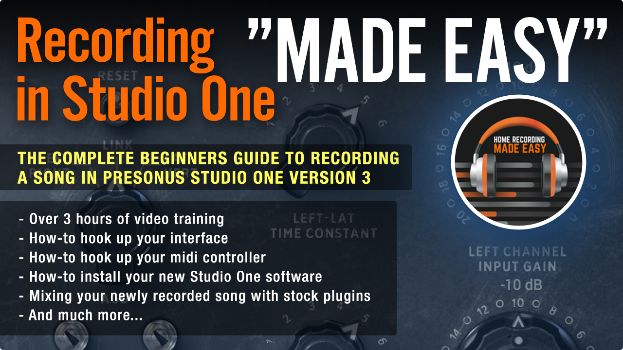Recording In Studio One Made Easy Complete Guide To Basic Electronics 3