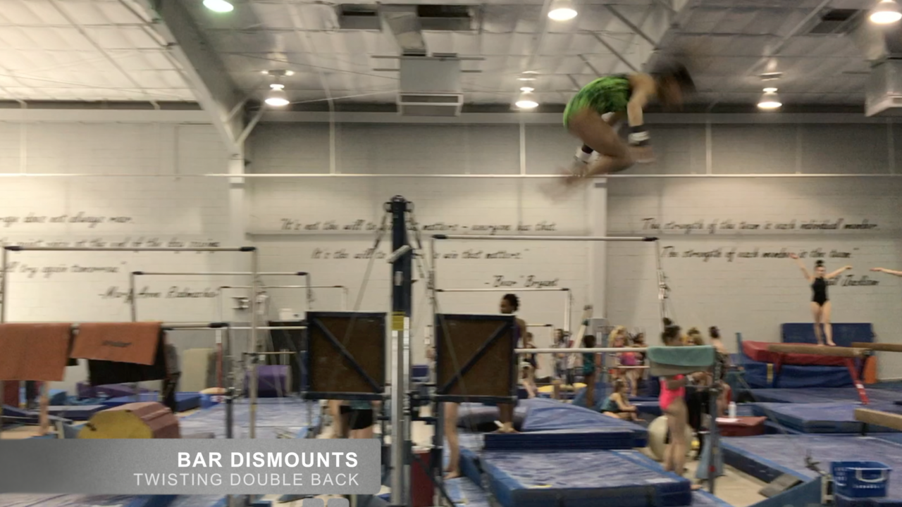 0eb5a7e7220c Little Gymnasts (Sample) Full Twisting Double- Uneven Bars