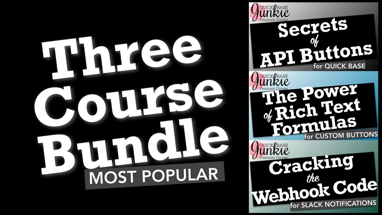Wlfpdrzbspgq15ec9oxj quick base junkie three course bundle